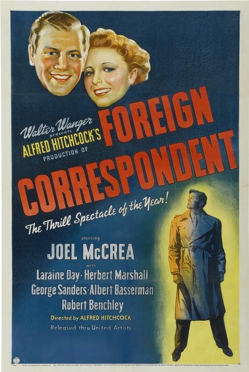 "Hitchcock Conversations: ""Foreign Correspondent"" (1940)"